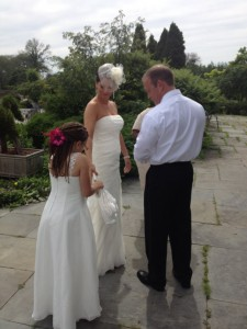 wedding Phia behind couple