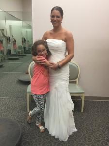 wedding dress try-on